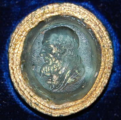 Gem from Roman Imperial Period Depicting Zeno of Citium