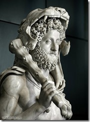 Commodus dressed as Hercules